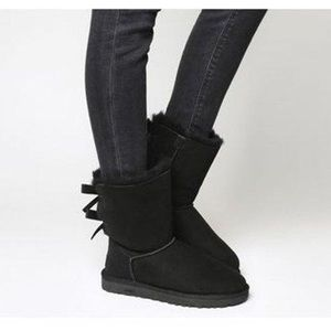 UGG Bailey Twinface Genuine Shearling bow boots